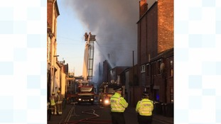 22 fire appliances are currently at the scene of a huge fire in Great Yarmouth.