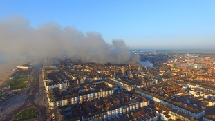 22 fire appliances are currently at the scene