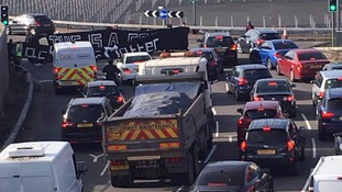 Black Lives Matter protesters block motorway route into Heathrow Airport as part of 'nationwide shutdown'