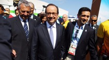 President Hollande arrives in Rio.