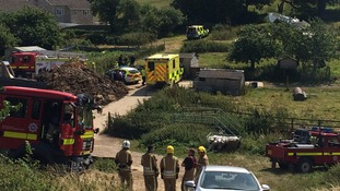 Lucky escape as light aircraft crashes near Weymouth