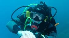 Matt O'Neil, from Darlington is training to become a scuba diver