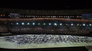 The spectacular ceremony was held at the Maracana stadium in Rio