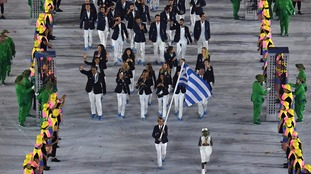 As is traditional Greece were first in the parade