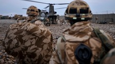 British Army soldiers in Afghanistan.