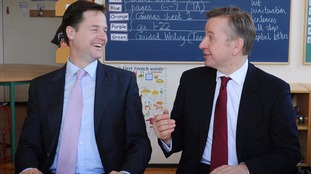 Nick Clegg and Michael Gove in 2010.