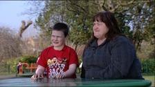 Cheryl Blackbourn and her son Ben