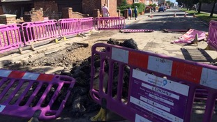 Road closed after burst water main in Mablethorpe
