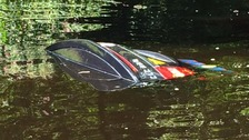 Car submerged in River Nidd in Knaresborough
