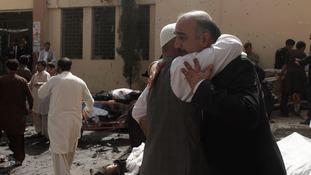 Bomb blast in Pakistan hospital kills 70 and injures dozens more