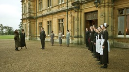 A scene from ITV1&#x27;s Downton Abbey