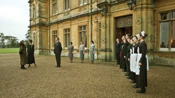 A scene from ITV1's Downton Abbey