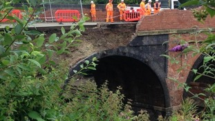 Bridge collapse at Barrow-upon-Soar