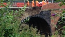 Bridge collapse at Barrow-upon-Soar
