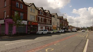 Officers were called to the takeaway on Rochdale Road late on Sunday night.