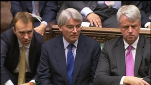 Tory Chief Whip Andrew Mitchell in the House of Commons today.