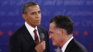 US President Obama and Republican Presidential nominee Mitt Romney