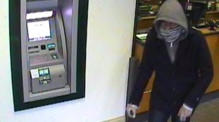 Police have released this picture in their hunt for a man who tried to rob a bank in Luton