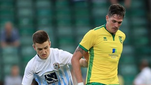 Kyle Lafferty in action for Norwich City.