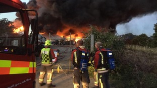 Flames and smoke could be visible for miles across Cornwall