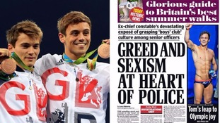 Where's Daniel Goodfellow? Olympic bronze medal-winning diver excluded from front pages in favour of Tom Daley