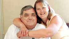 John Wilson, 63, and wife Hazel, 53 leapt out of a window