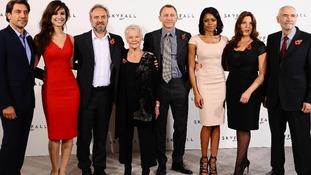 Javier Bardem, Berenice Marlohe, Sam Mendes, Dame Judi Dench, Daniel Craig, Naomie Harris, Barbara Broccoli and Michael G Wilson