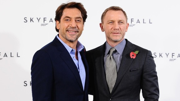 Bond and his bane: Javier Bardem and Daniel Craig at a photocall for Skyfall
