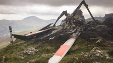 The remains of the RAF helicopter