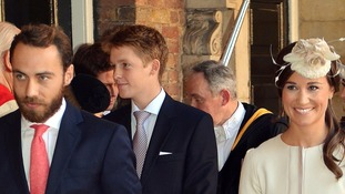 Hugh, seen at Prince George's christening in 2013, is the youngest and wealthiest of the future king's godparents.