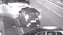 Police say the driver of this taxi may have information