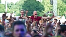 Festival goers at Weston Park- V Festival
