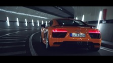 The Audi R8 seen in the advert