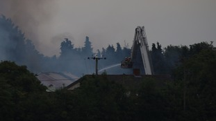 Firefighters tackle fire in Shipdham near Dereham.