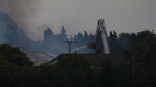 Firefighters tackle fire in Shipdham near Dereham.