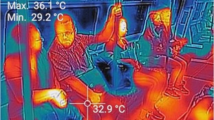 Thermal imaging of Central line.