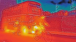 Thermal imaging of a London Bus.