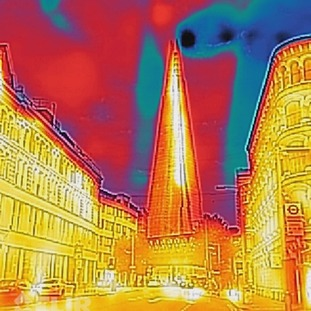 Thermal imaging of The Shard.