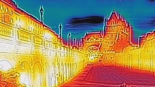 Thermal imaging of Tower Bridge.