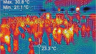Thermal imaging of Euston Station.