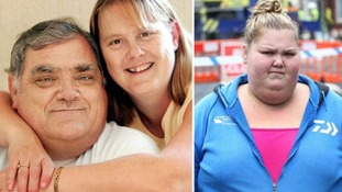 Leanne Wilson (right) has spoken of her heartbreak following the death of her dad John, pictured left with wife Hazel