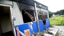 The community pavilion was torched in Carrington