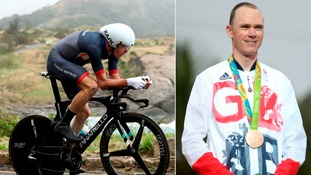 Chris Froome wins bronze for Team GB in men's time trial