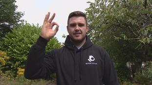 Luke Ambler pledging itsoktotalk