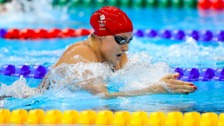 Molly Renshaw competes in the Women's 200m Breaststroke Semi Final 2