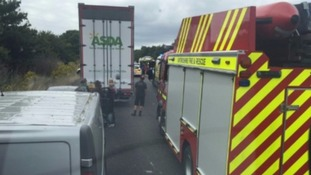 Three children among dead in horror eight-vehicle crash on A34