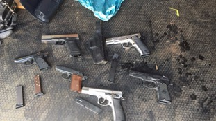 Blank-firing pistols in left in a bin on Stratford Road