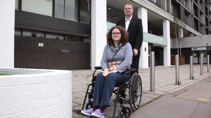 Sandra with her husband Geoff.