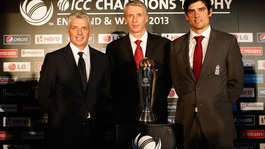 Alastair Cook, David Richardson and Steve Elworthy were speaking at the launch of the ICC Champions Trophy 2013