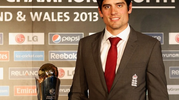 Alastair Cook at the ICC Champions Trophy 2012 launch